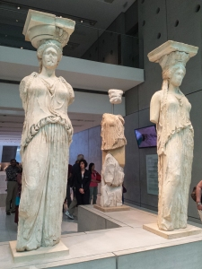 The Acropolis Museum.  These are the real Six Sisters.  Those at the Acropolis are fakes.